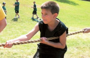 Young Jake Tug-a-War