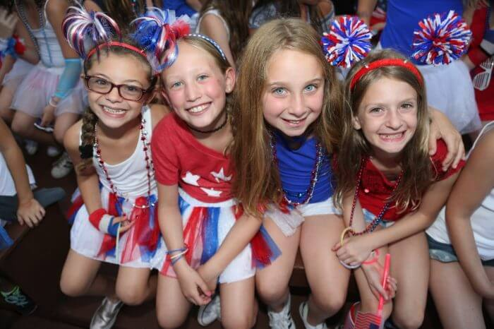 4th of July, Campers dressed in red, white and blue