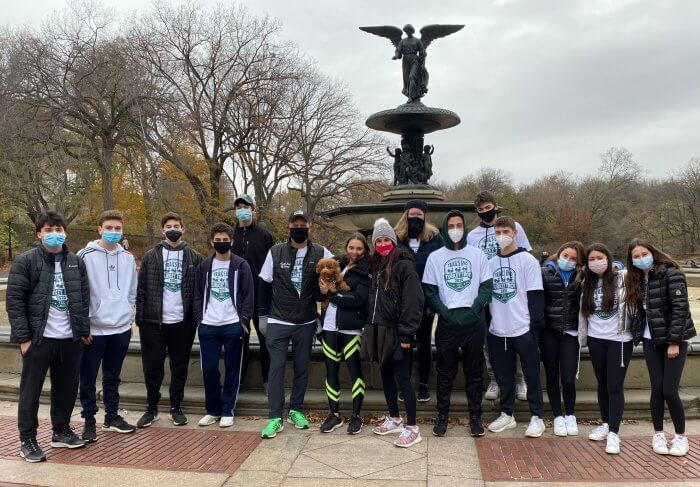 Leadership Trainee campers meet at New York City's Central Park to kick-off the Turkey Trot.