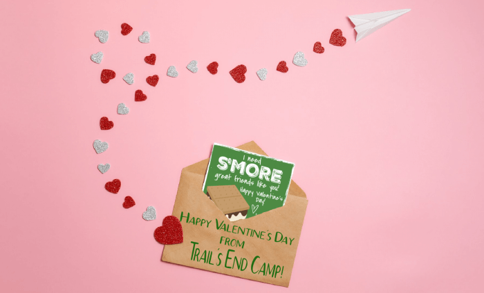 summer camp valentine's day cards from trail's end camp