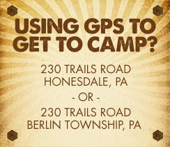 Using a GPS to get to Camp